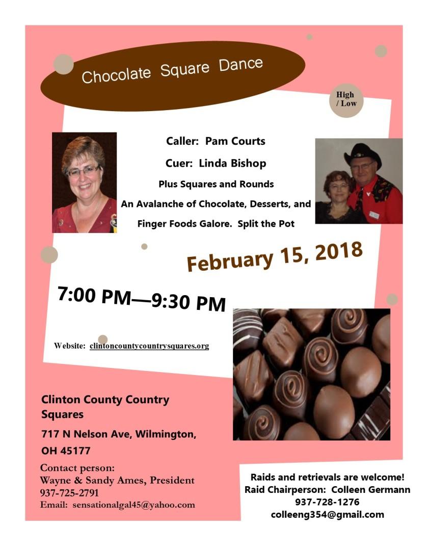 Chocolate Square Dance Flier